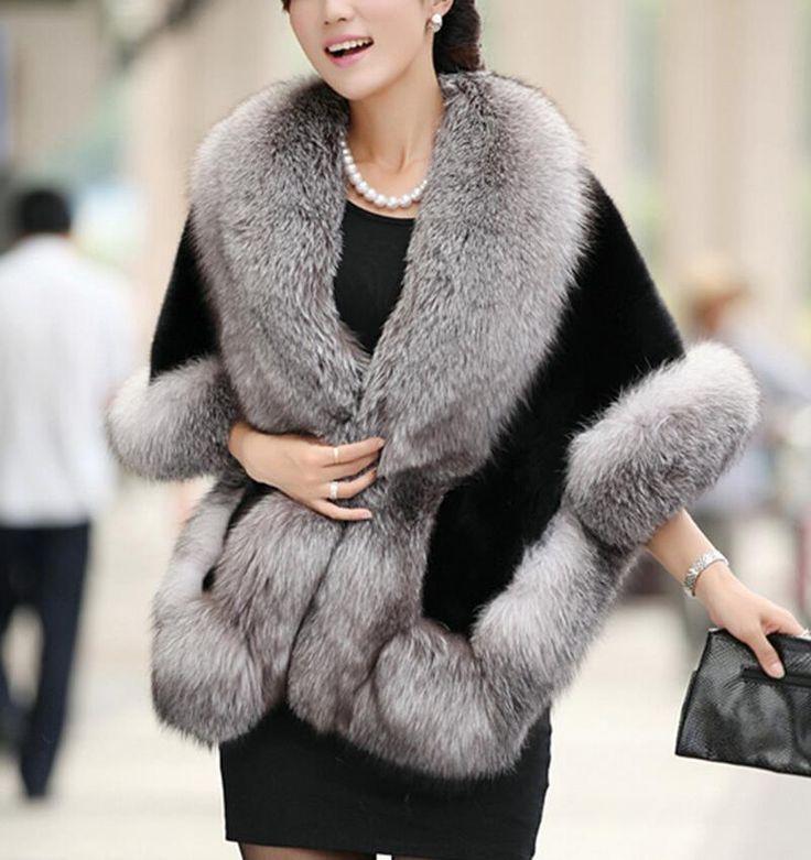 2014 Winter Faux Fur Coats Leather grass fox fur mink rabbit fur poncho cape bridal wedding dress shawl cape women vest fur coat|f62f6109-0158-47a4-9e45-7609a5aa80c6|Fur & Faux Fur