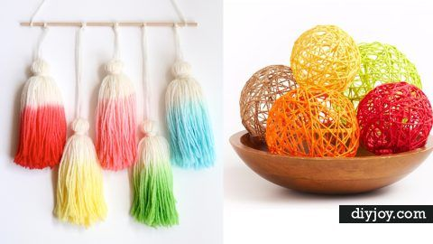35 Clever DIYs Made With Yarn | DIY Joy Projects and Crafts Ideas