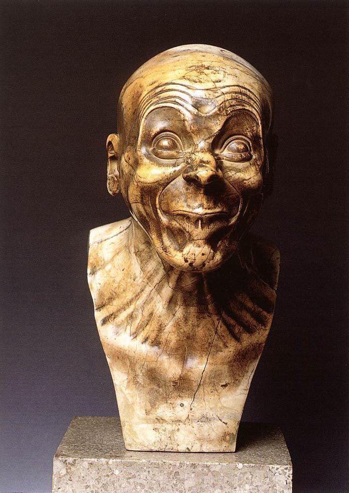 Franz Xaver  Messerschmidt Character Head: The Lecher  1770-1783 Marble sterreichische Galerie (Vienna, Austria)