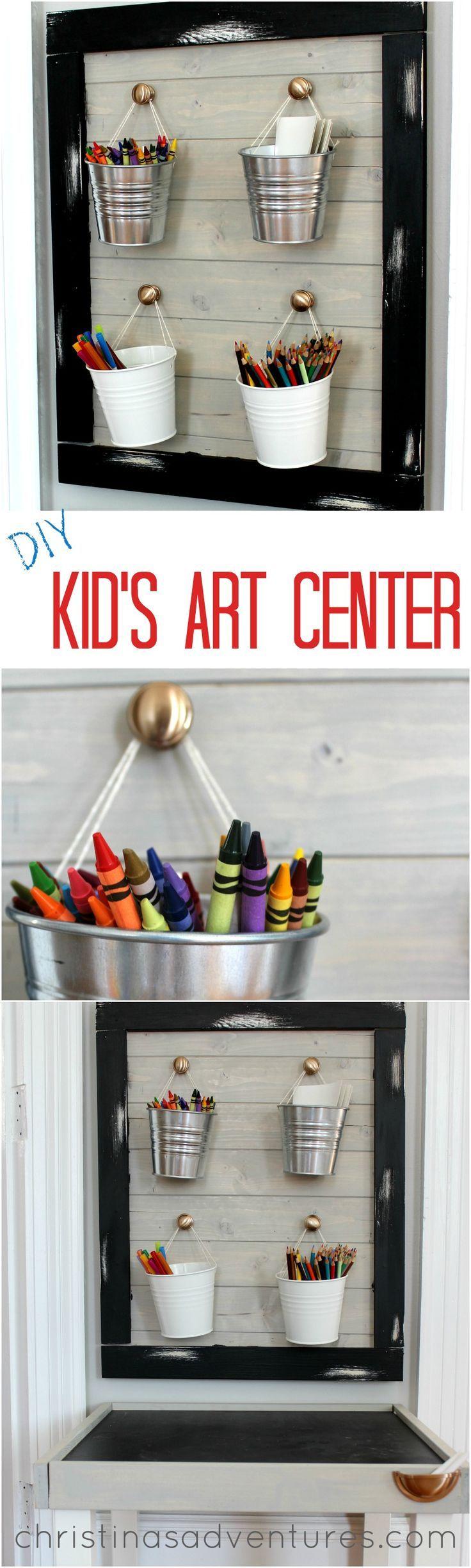 Adorable & affordable DIY kid's art center
