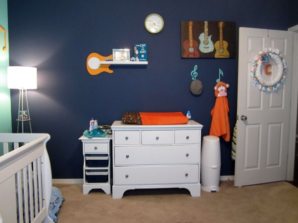 music themed nursery changing table