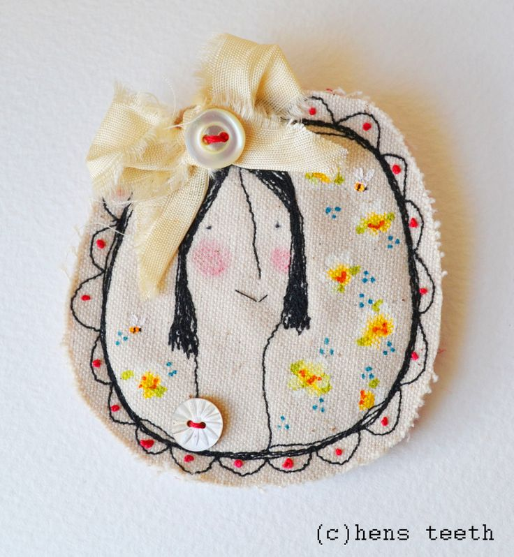 hens teeth : brooch pin : her name is Constance