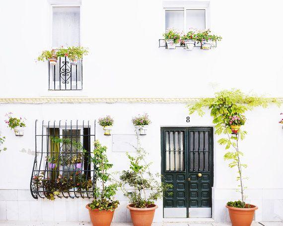 Spain Photography, Spanish House Photo, Spain Print, White Village Print, Spain Artwork, White Home Decor, Mediterranean Photograph
