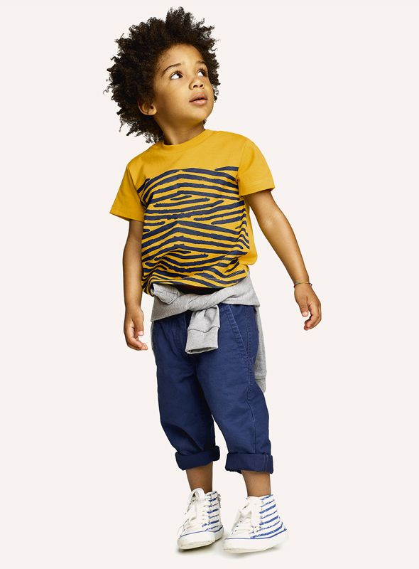 #Benetton #SS17 #collection #trend #fashion #kids #boy #color #yellow #tshirt