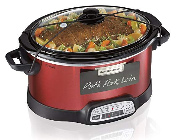 Hamilton Beach Programmable Slow Cooker 5 Quart With Lid Latch
