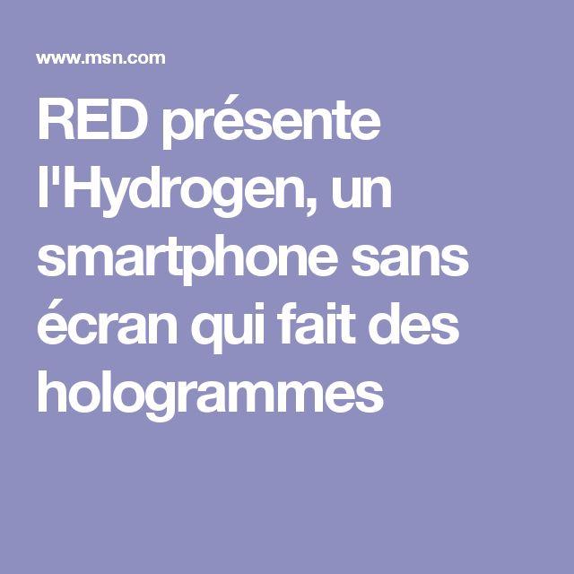 RED présente l'Hydrogen, un smartphone sans écran qui fait des hologrammes