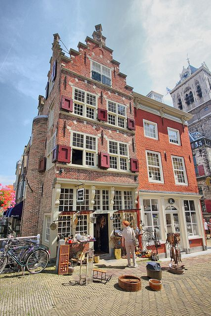 Nederland Delft Beautiful Medieval Building