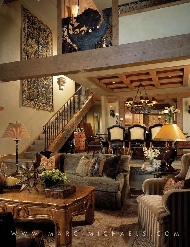 amazing award winning living room | Rustic Lodge living room, Aspen, Colorado | Rustic Lodge ...