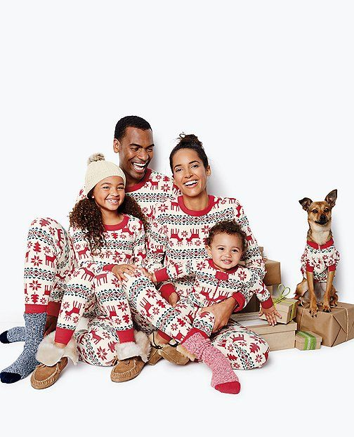 Need these for the fam for next xmas! Hannah Andersson Long John Pajama Pants In Organic Cotton   Dear Deer pattern