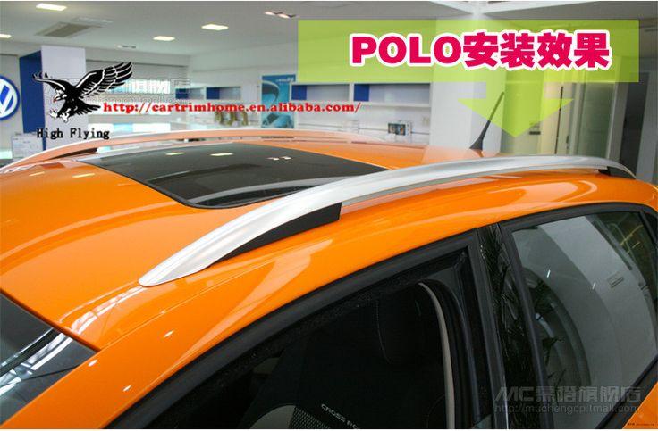Алюминий простой стойки на крыше рейки зубчатые для фольксваген поло ( хэтчбек ) 11 - 13