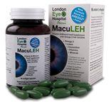 MacuLEH Specifically designed for macula health 10mg Lutein 2mg Zeaxanthin Vitamins B6, B12, C and E Zinc, copper and folic acid 1000mg Omega 3 Fish Oil providing: 650mg Eicosapentaenoic Acid (EPA) 350mg Docosahexaenoic Acid (DHA)  MacuLEH contains lutein, zeaxanthin, omega 3 fish oil (rich in DHA and EHA) as well as vitamins B6, B12, C
