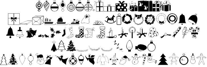 Carr Xmas Dingbats font by Alan Carr - FontSpace