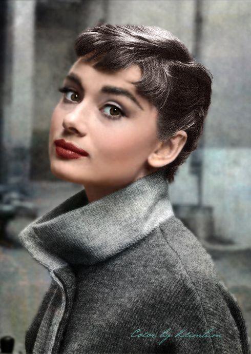Audrey Hepburn in colour
