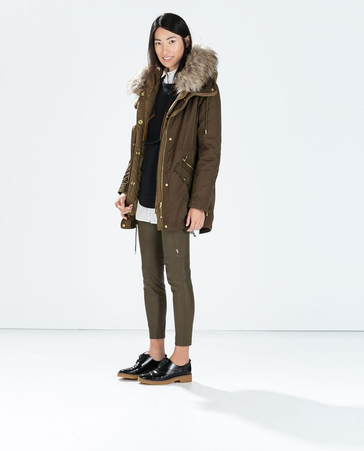 Image 1 of PARKA WITH DETACHABLE QUILTED LINING from Zara