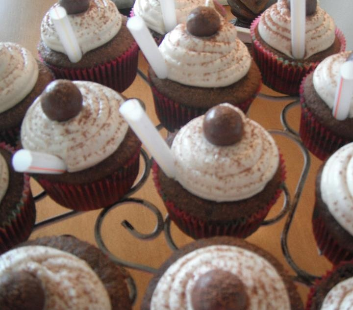 Chocolate Malt Cupcakes | Food from Christy's Kitchen | Pinterest