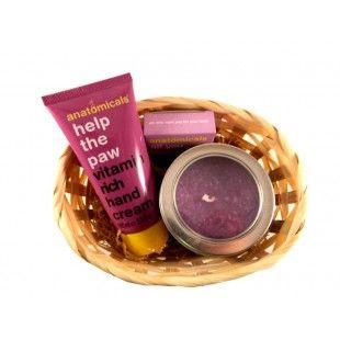 Aranjament cadou Purple glow - http://livediva.ro/cadouri-online/Secret-Santa-cadouri-pentru-colegi