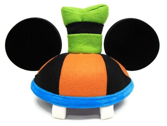 goofy mickey ears | Padded Goofy hat topper and teeth Velour material covered ear fronts ...