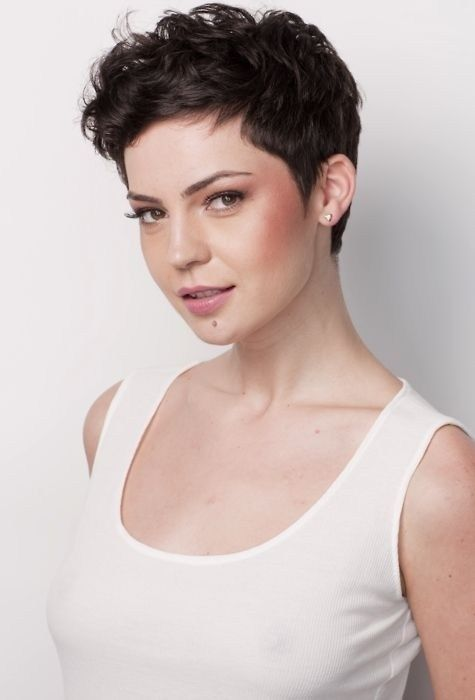 Simple Short Hairstyles: Cute Curly Pixie for Women