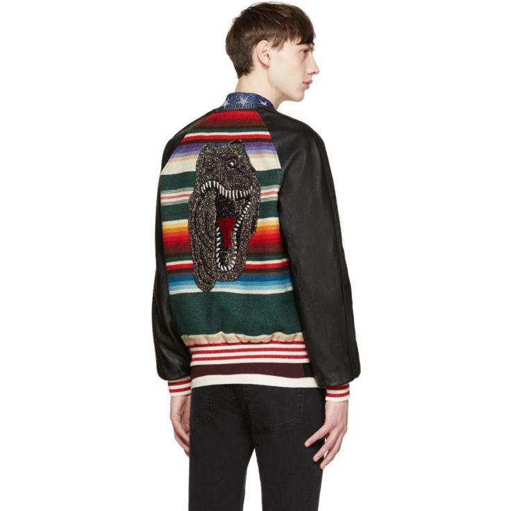 Saint Laurent Multicolor Teddy Bomber Jacket