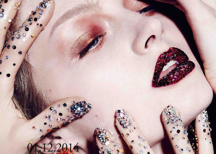 Cosmetic Gemstone Editorials : Marie Claire Russia Winter