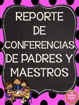 A free Parent-Teacher Conference Report in Spanish to share your students' progress in the classroom on that special day.Looking for Spanish products or Bilingual Resources? Click here to check out my store:Bilingual Teacher Store Be sure to follow my store!