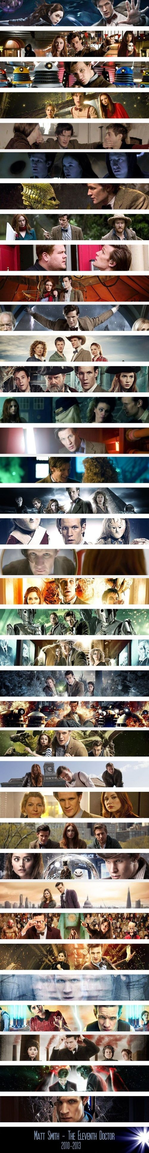 "So sad to see him leaving, one of my favorite pictures is a of Eccleston, Tennant, and Smith next to each is ""the one who introduced you to the Doctor"" ""the one you fell in love with"" and ""the one who became your best friend."" So true!!"