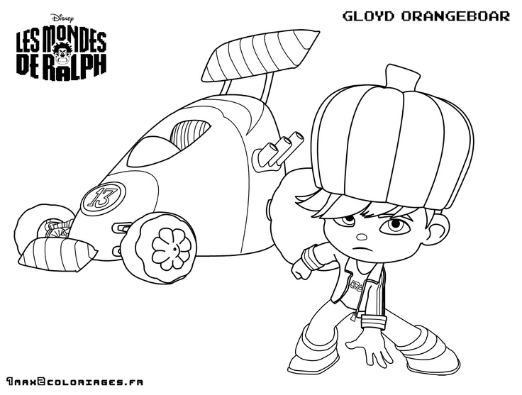 wreck it Ralph coloring pages kids Pinterest