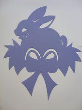 Fensterbild Ostern Hase im Nest Tonkarton flieder filigran 31 cm TOP
