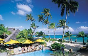 The Rarotongan Beach Resort in the Cook Islands has lovely snorkelling right out the front.