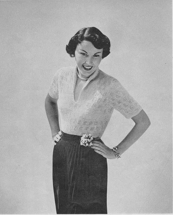 1950s Summer Blouse
