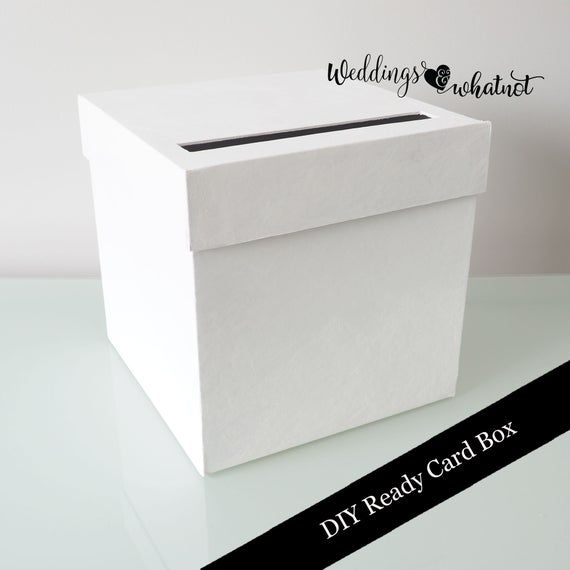 Diy Card Box With Cards Thank You Sign Option Etsy In 2021 Diy Card Box Card Box Thank You Sign