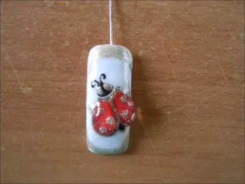 Nail art coccinella 3D
