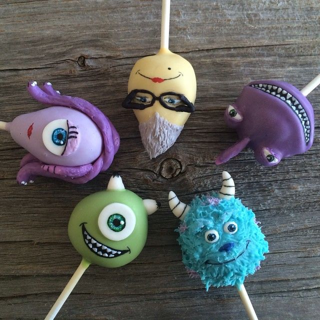 Monster Inc pops for this weeks entry! #littlemisscakepops #cakepops…