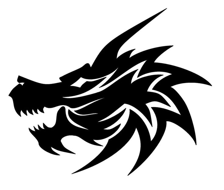Black and white dragon head pictures