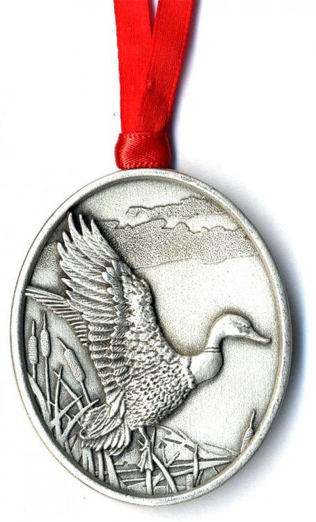 Mallard Duck Pewter Ornament