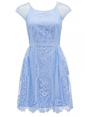 Blue Stella Mirrored Lace Dress #forevernew