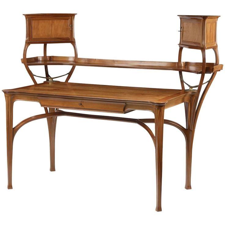 art nouveau furniture. tony selmersheim, charles plumet, an art nouveau desk furniture