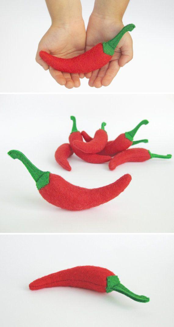 Comida Chile juguete realista finja el juego para niños cocina se sentía jugar alimentos tejido vegetales