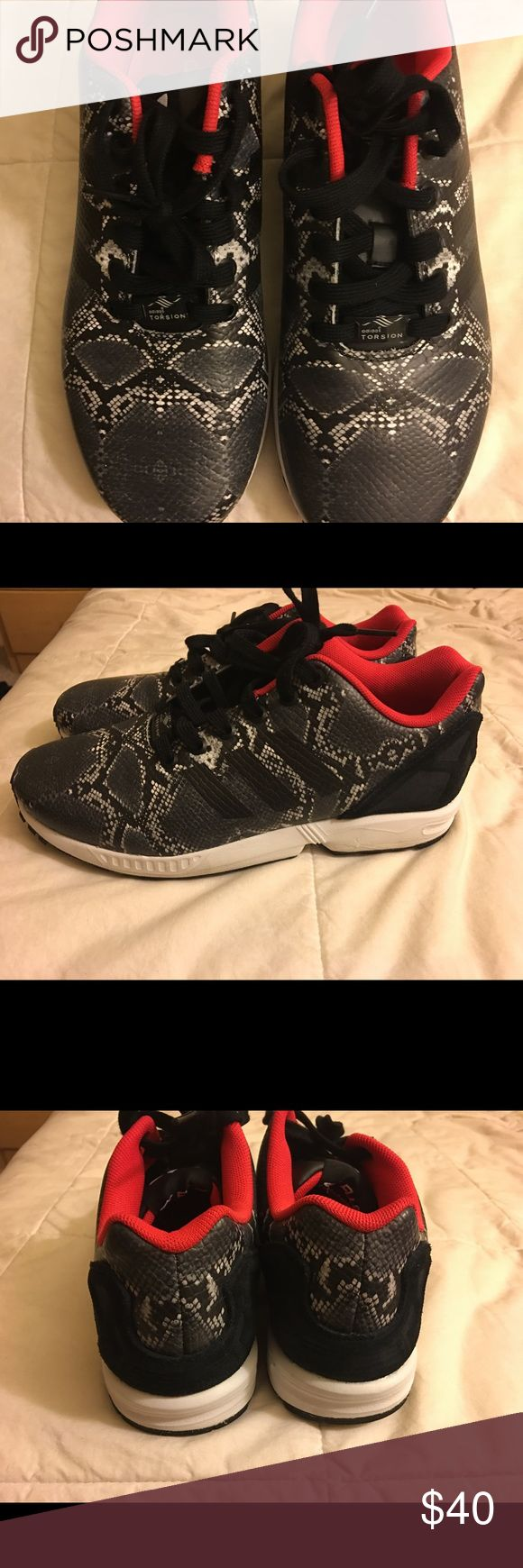 Adidas Shoes Adidas ZX Flux . Black & Red . brand new ! Adidas Shoes Athletic Shoes
