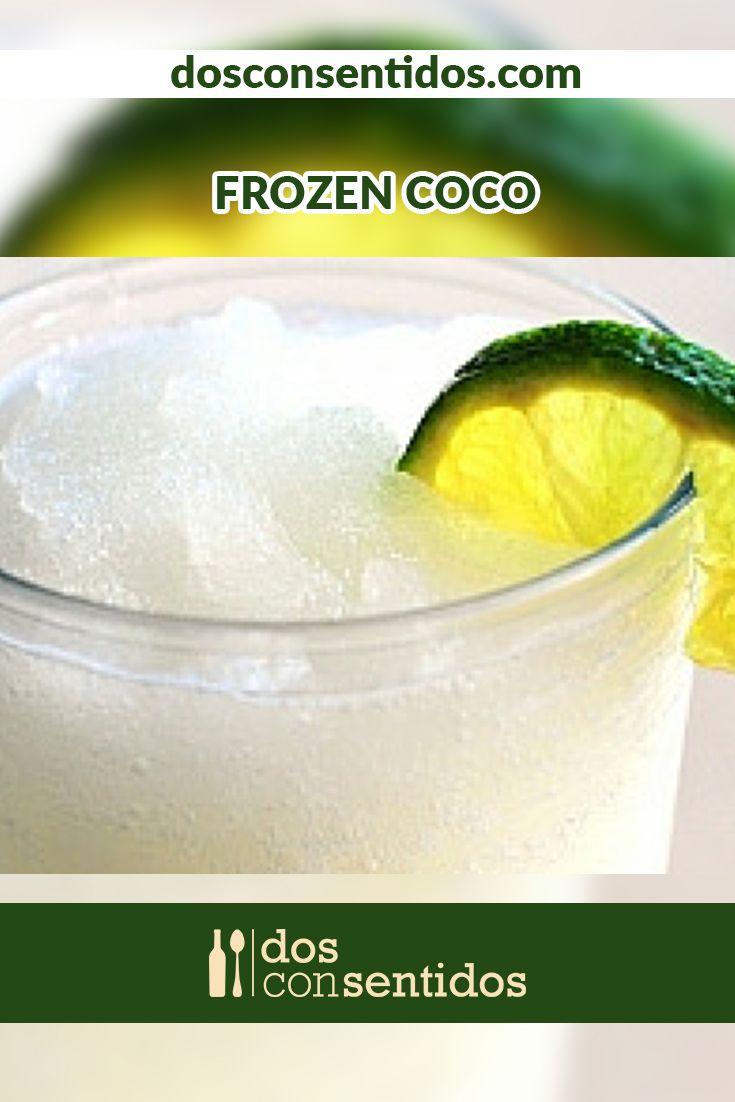 El Frozen Coco es un cóctel granizado, a base de ron blanco y licor de coco, también conocido como Malibu, y espesado y endulzado con helado de coco. Es frió, espeso y con un delicioso sabor a Caribe; sírvelo como un rico cóctel de bienvenida en tus fiesta de sol y piscina.