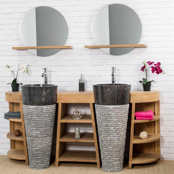 4430 best SALLE DE BAIN images on Pinterest Bathroom interior - meuble salle de bain marron