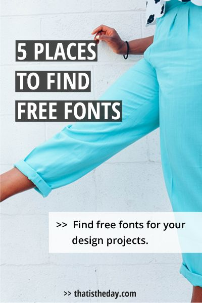 Sometimes the pre-installed fonts on your computer can only bring you so far. Sometimes you need something special for a project. Professional high-quality fonts are mostly very expensive and this often doesn't fit into our budget. Especially if you only need the font for one single project. Looking for free fonts is time-consuming, because of the sheer abundance of offers online. Here's a collection of the 5 best places to find free fonts. Check them out | thatistheday.com #font…