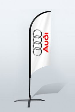 The flags come with double-sided customized print making it more effective to grab an attention. The outdoor flags are used as a symbolic representation because it conveys the message of right place recognition.