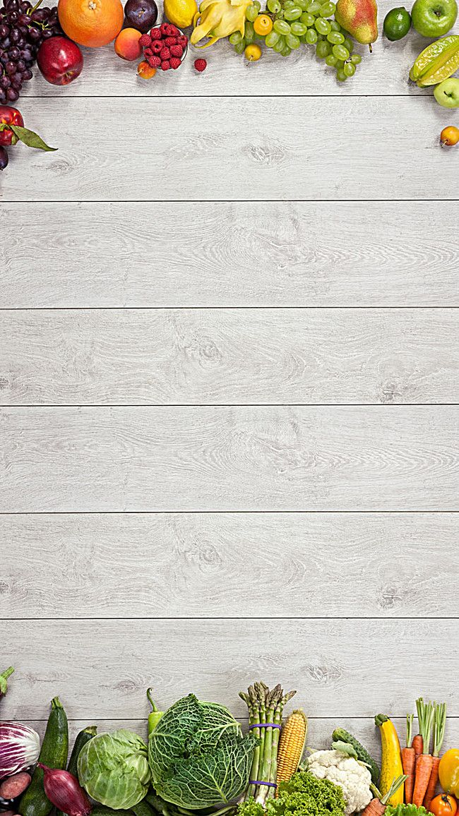 Wooden Background Fruits And Vegetables Flier Backgrounds In