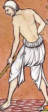 CHAPTER 5 Early Middle Ages (starting around 800): Braies --- Both men and women wore material similar to this underneath their clothes as undergarments.