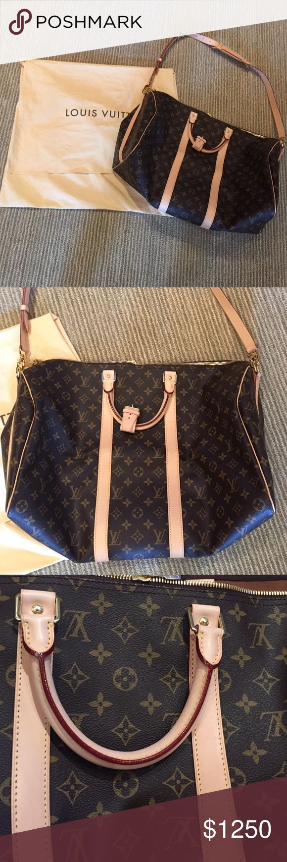 louis vuitton overnight bag. louis vuitton keepall 55. new with dustbag overnight bag