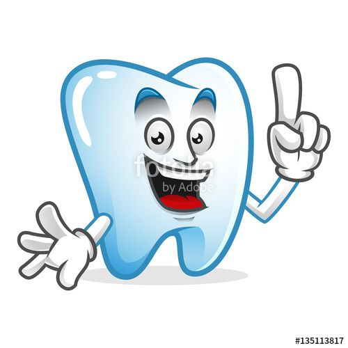 """Download the royalty-free vector """"Smart tooth mascot, tooth character, tooth cartoon vector """" designed by IronVector at the lowest price on Fotolia.com. Browse our cheap image bank online to find the perfect stock vector for your marketing projects!"""