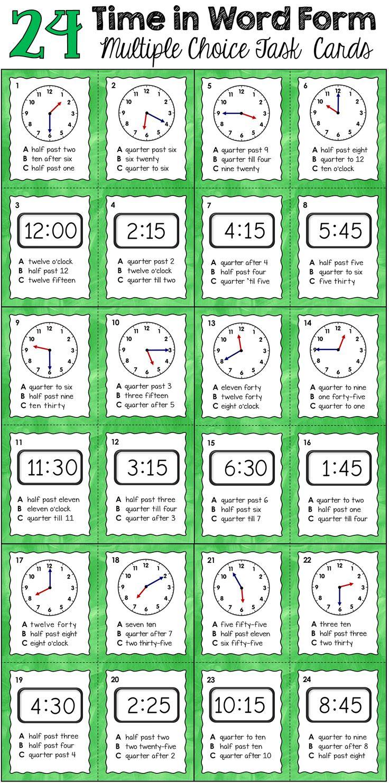 71 best Maths - Time images on Pinterest | Teaching ideas, Teaching ...