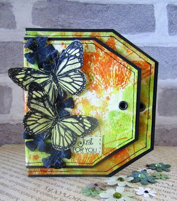 The Artistic Stamper Creative Team Blog: Butterfly Tag Card by Gemma #artisticstamper #butterflies #inkykitty #cards #spring