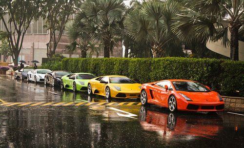 #lamborghini: Cars Vehicles, Lambo Rainbows, Orange, Classy Wheels, Color, Green, House, Dreams Cars, Lamborghini